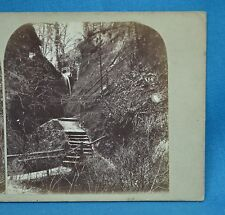 1860s Stereoview Photo Interior Of Shanklin Chine Isle Of Wight