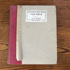 "Vintage Antique Book Van Dyck EV Lucas 8.5"" x 7"" 13 Illustrations 1935"