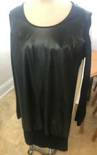 David Bitton (Buffalo) Dress NWT S/P Black Faux Leather Front