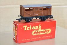 TRIANG R122 BR marron bétail WAGON M3712 ouvert accouplements 1958 Version
