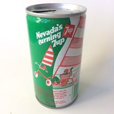 "Vintage 1979 7up ""America's Turning 7 up"" Collectible Soda Can - Nevada"
