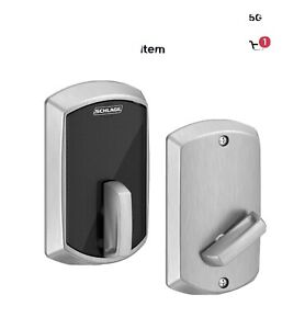 Schlage Control Smart Deadbolt BE467 GRW 626 Satin Chrome Engage Multi-Family