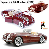 Bburago 1:24 Classic Jaguar XK 120 Roadster 1951 Die Cast Model Boys Gift Car