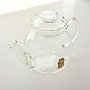 Vintage Schott-Mainz Jena Glass Tea Pot & Lid - No Infuser - Excellent Germany