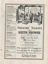 1928 Advert for 'KEITH PROWSE' Tickets, Music etc Brown Crystal Radio ad on rear