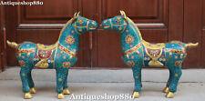"""Paire de statuettes d'animaux, 23 """""""