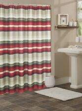 fabric summer red strip fabric Shower Curtain