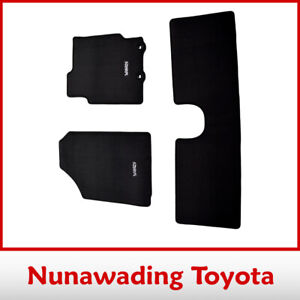 NEW TOYOTA GENUINE YARIS HATCH CARPET FLOOR MAT SET OF 3 FROM SEPTEMBER 2011 ON