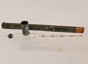 Ancien Alcoomètre (Vins) Contrôle C.A. DELAUNAY FILS AÎNÉ PARIS + tube en tôle