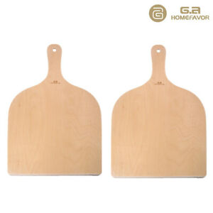 G.a Pizza Peel Paddle Wooden Pizza Peel Bakers Oven Tray 2PCS -16.5 x 11.8 Inch