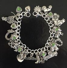 Cowgirl Charm Bracelet, Cow Girl, Cowboy, Country And Western, Stetson, Horse