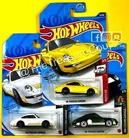 Hot Wheels 2021 - Lot of 3 - '96 Porsche Carrera - 3 Colors - NEW Green - C85