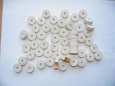 """100 CORK RINGS 11/4""""(32 mm)X1/2""""(12.7) GRADE EXTRA BORE 1/4"""" BLEACHED  Free Ship"""