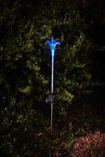 Solarleuchte LED Lampe Leuchte Gartenlampe Gartenleuchte Lilie Multi Colour 88cm