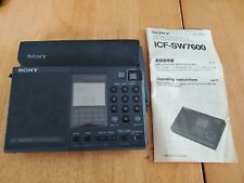 Sony World Band Receiver ICF-SW7600 In Box Synthesized Receiver