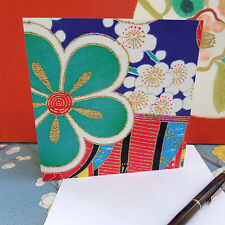 K8;KIMONO DESIGN;SQUARE;ANY AGE;GREETINGS CARD; COLOURFUL;QUALITY;JAPAN STYLE