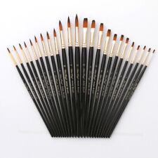 12 pezzi pennelli per legno Pratici pennelli in nylon bicolore per pittura