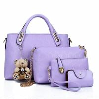 4Pcs/Set Women Lady Leather Handbags Messenger Shoulder Bags Tote Satchel Purse