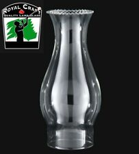 """3"""" X 8 1/2"""" ~ Clear GLASS Oil Lamp ~ CHIMNEY ~ Crimped Top ~ #G7940"""