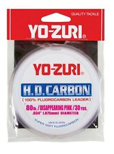 Yo-Zuri Hd Carbon Disappearing Pink 30 Yards Fluorocarbon Leader Assorted Weight