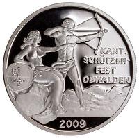 2009 Switzerland Shooting Festival Thaler Obwalden Silver Proof In Cap SKU41844