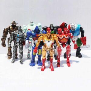 "Lot Set of 8 Real Steel Atom Midas Noisy Boy Zeus Action Figure 5"" Xmas Gift*"