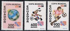 Ecuador 1300/02 1994 Copa Mundo Fútbol Football USA Fauna Dog Perro MNH