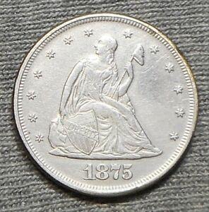 Nice 1875 P Twenty Cent(20c) Piece