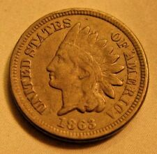 ESTATE:  1863 INDIAN HEAD PENNY 1c.                       (G)