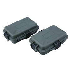 2 Pack Outdoor Plastic Waterproof Survival Case Container Storage Carry Box