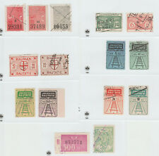 Finland Parcel Train Stamp Revenue Fiscal stamp 10-16-21 --  15 stamps