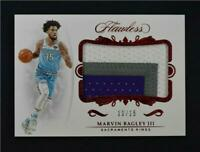 2018-19 Panini Flawless Rookie Patch Red #RP-MB3 Marvin Bagley III /15