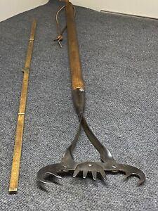"Antique Norlund's Fish Spear Grabber Spring Loaded 42"" Long"