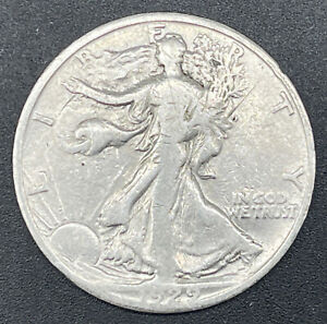 1929 S  Walking Liberty Half Dollar 50c 90% Silver Coin