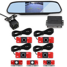 13mm 4 Rear Sensors Video Rearview Car Reverse Parking Sensor kit Mirror&Camera