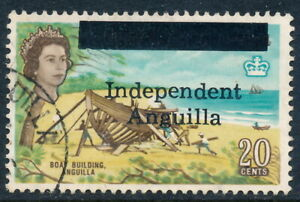 Scott 10/SG 10, 20c 1967 Independent Anguilla overprint, F-VF fresh used