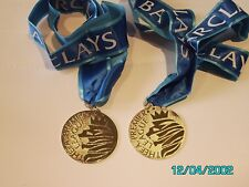 2 - MANCHESTER CITY 2013-14 PREMIER LEAGUE CHAMPIONS MEDALS WITH RIBBON