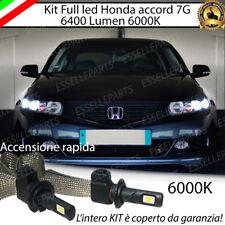 KIT FULL LED H1 HONDA ACCORD 7G 6000K BIANCO NO ERROR 6400 LUMEN ANABBAGLIANTI