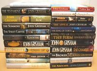 Lot 8 John Grisham Hardcover Book - RANDOM MIX -Calico Joe/Client/Broker/Camber