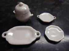 1/12 SCALA bianco piatto in ceramica vassoi e casseruola CODICE SS