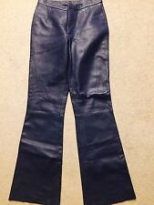 beautiful Navy blue leather pants Catherine Malandrino size 2