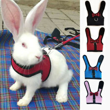 Small Pet Rabbit Mesh Harness With Leash Animal Vest Soft Hamster Supplies