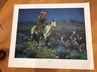 western cowboy art print by Frank Hoffman 30.5x25.5