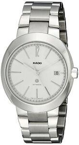NEW Rado Men's R15513103 D-Star Analog Display Swiss Automatic Silver Watch