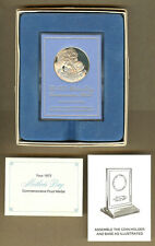 1972 Franklin Mint Sterling Silver Mothers Day Commemorative Medal, Papers & Box