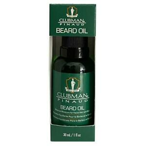 Clubman Pinaud Beard / Moustache Oil 30ml Conditions Hydraties Adds Moisture