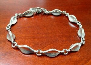 Georg Jensen F.Eskildsen Denmark Vintage Modernist Sterling Silver Bracelet #180