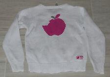 5209 - Gilet 5 ans zip blanc OKAIDI pomme rose dans le dos