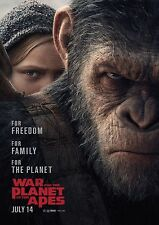 War For The Planet of the Apes- A4 Glossy Poster - Film Movie Free Shipping #976