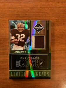 Jim Brown 2006 Leaf Limited 2 color prime jersey patch #22/25 - BROWNS